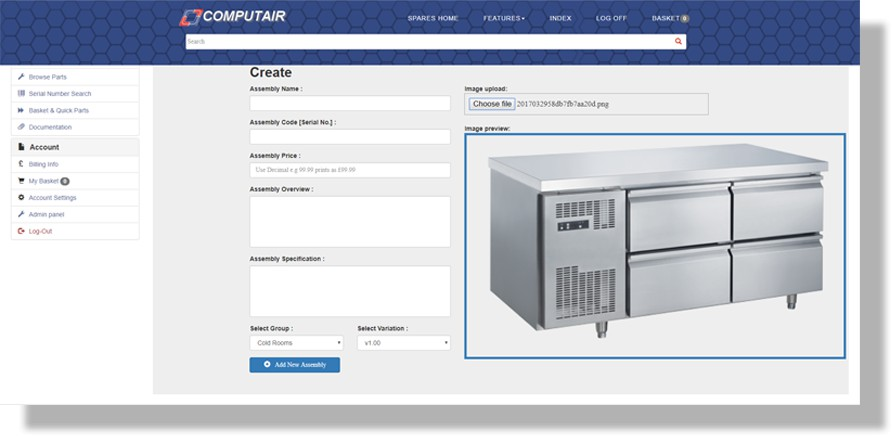 webspares selection software