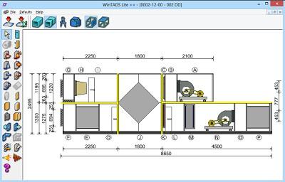 WinTADs adding vestibules and selection unit