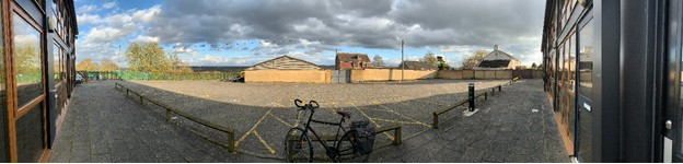 The empty car park during Covid-19
